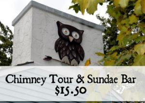 Greendale Historic Folk Art Chimney Tours and Sundae Bar at Ferch's Malt Shoppe