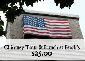 Greendale Historic Folk Art Chimney Tours and lunch at Ferch's Malt Shoppe