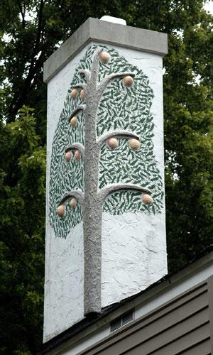 Unique Chimney Art Work