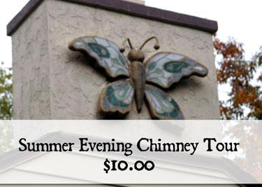Summer Evening Greendale Historic Folk Art Chimney Tours
